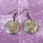 Textured and Domed Earrings