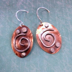 Soldered Mixed Metal Earrings