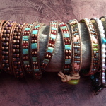 Mixed Bead Wrap Bracelets