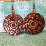 Embossed Brass Earrings